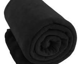 Black Fleece Blanket - Monogrammed