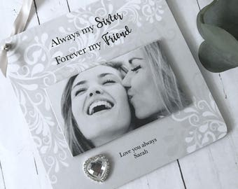 Personalised Sister Photo Wall Hanging Plaque/Sign P312