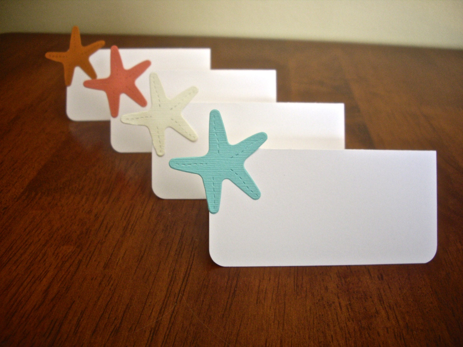 starfish place card beach theme place card nautical place