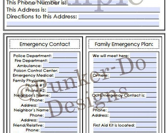 Editable Home Management Binder - Organization - Printable PDF with Meal-Menu Planning - by Punker-Do Designs