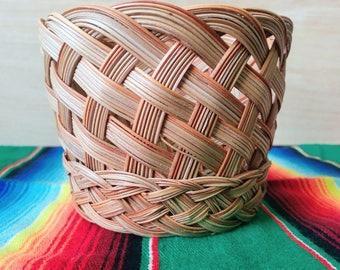 Woven Planter Basket | Wicker Basket | Vintage Basket | Wicker Storage