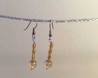 Topaz dangle earrings