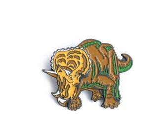 Triceratops, dinosaur, pin, triceratops pin, brooch, dinosaur pin, dino, dinosaur brooch, dinosaur badge, enamel pin, backpack pin, jurassic