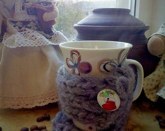 Knitted Cup Cozy Coffee Mug Cozy Coffee Gift Cup Sleeve Student/Teacher gift Hand Knitted Cup Cozy