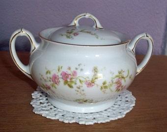Vintage H & Co Heinrich China Bavarian Sugar Bowl HC441 Pattern