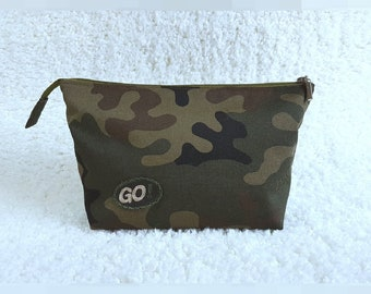 Men's cosmetics bag from camo fabric Franco