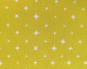 We are All Stars Bright Yellow Organic Cotton by Birch Fabrics