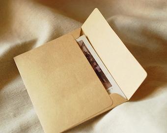 Envelope Set - Kraft Paper - 3.7in x 5in - Rectangle Seal - 10 Pcs