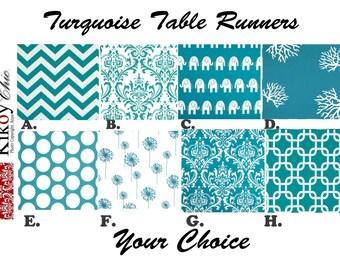 Blue Table Runner Turquoise ...