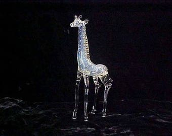 Hand blown glass giraffe pipe.