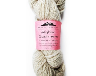 Natural Undyed Cashmere Yarn, Worsted Yarn for Dyeing, 100% Cashmere Wool, Natural Colors, Fair Trade