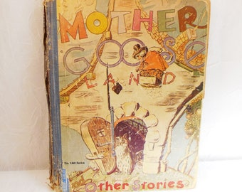 Rare Childrens Book, Mother Goose Land, Tiny Tad and Other Stories, 1929, No. 1460 series, World Syndicate Publishing