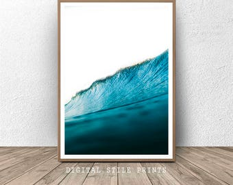 Wave Print, Ocean Wave Photo, Ocean Decor, Wave Photography, Ocean Decor, Sea Print, Ocean Photography, Wave Art, Art Print, Wall Print