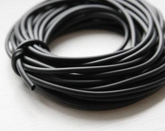5 Meters Beadalon Rubber Tubing Cord 2.5mm - Black (4003)