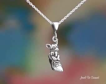 """Sterling Silver Chihuahua in Shoe Necklace 16-24"""" or Pendant Only .925"""