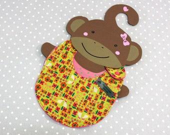 bunny handmade baby bib 0/8 month