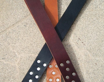 BDSM Leather Spanking Paddle - The Riveted Strap