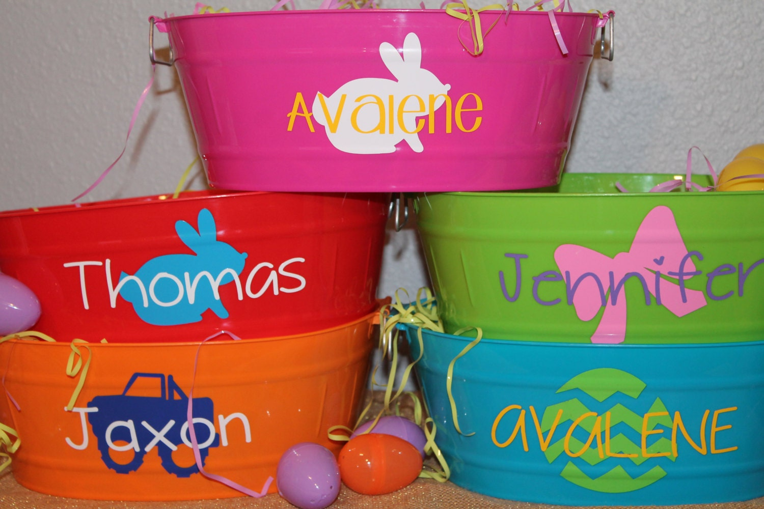 Personalized easter basket you fill oval bucket zoom negle Images