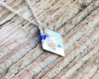 Silver Pearl Mini Pendant
