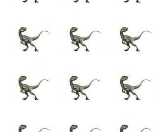 12 x Velociraptor Dinosaurs Edible Stand Up Wafer Cupcake Toppers x 12