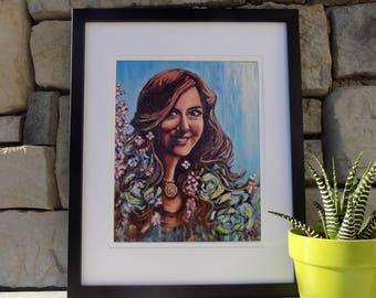 """8"""" x 10"""" Digital Art Print of Becky"""