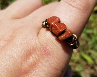 Red Goldstone Ring