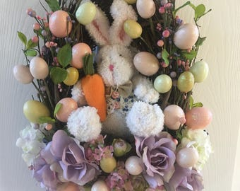 Easter Grapevine Basket with Bunny