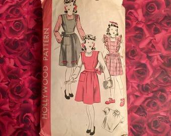 1940's Vintage Girls Pinafore Sewing Pattern