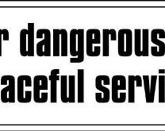 Thomas Jefferson Quote: I Prefer Dangerous Liberty Bumper Sticker (libertarian decal)