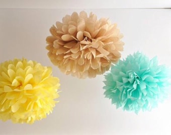 12 tissue paper pom poms- You choose COLORS -