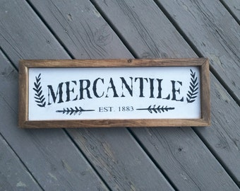 Mercantile Custom Sign // kitchen sign // kitchen decor // mercantile // mercantile sign // merchant sign // business sign