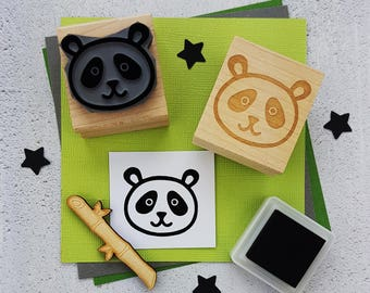 Panda Rubber Stamp Rubber Stamp - Gift Panda Lover - Kawaii Stationery - Gift for teens - China - Bamboo - Animal Present - Zoo Gift