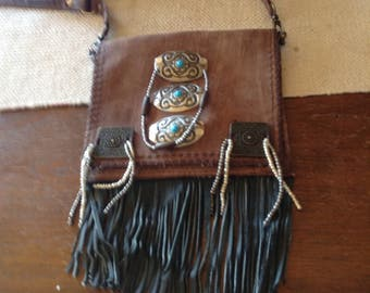 Boho , hippie , gypsy , cross body bag.