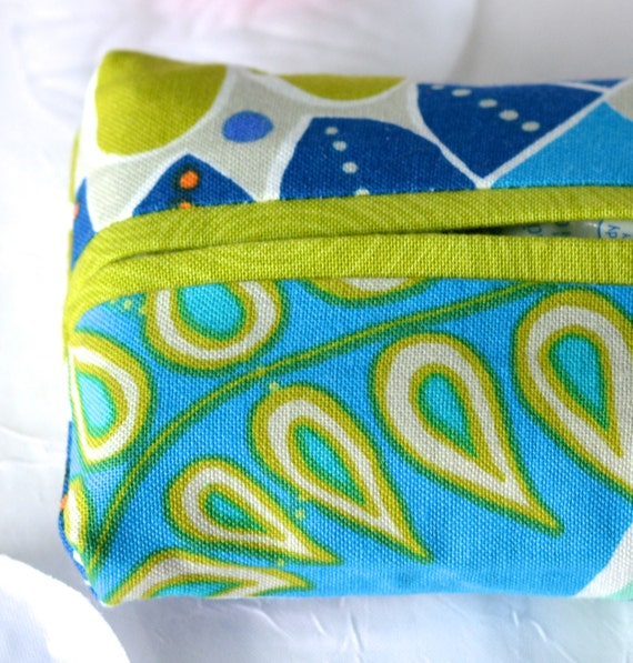 Kleenex Pocket Tissue Holder, Handmade Travel Tissue Case, Wedding Favor, Bridal Shower Gift, Office Gift, Purse Floral Tissue Case