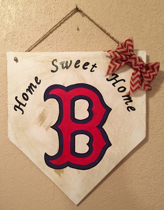 Like this item? & Boston Red Sox sign Home plate sign Boston Red sox decor