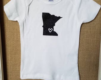 Minnesota Gear, 24 month Gerber T-shirt, Love Minnesota