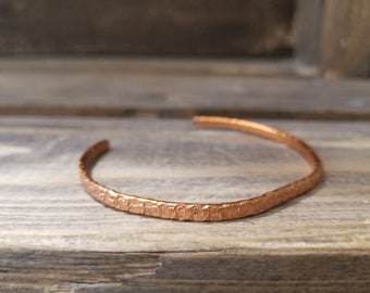 Hand Flattened and textured Copper