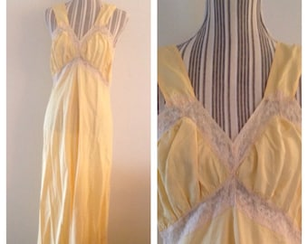 Vintage Swaintron Vintage Yellow Nightgown