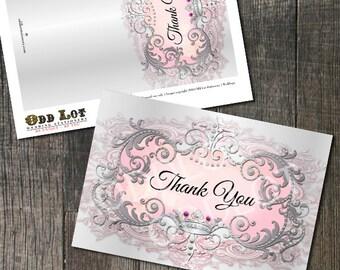 Princess Thank You Card, Princess Birthday, Princess Party, Princess Quinceañeras, Princess Baby Shower, Princess Bridal Shower