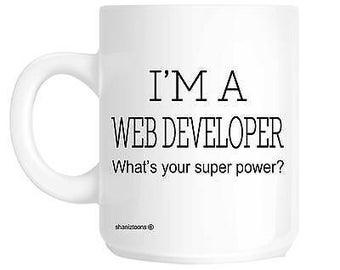 Web developer novelty gift mug