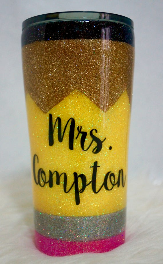 Glitter Pencil Tumbler Custom Cup Personalized Tumbler 20oz