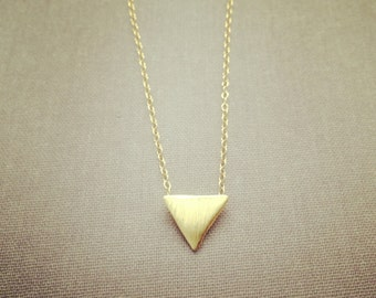 Triangle gold filled necklace pretty, lovely, cute, adorable, jewelry