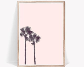 Palm Tree Print,Pink Wall Art,Palm Tree,Palm Print,Blush Pink Wall Art,Large Wall Art,Palm Tree Decor,Palm Tree Art,Digital Prints,Wall Art