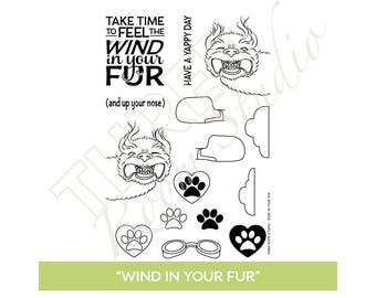 "TRS ""Wind in Your Fur"" Clear Stamp set"