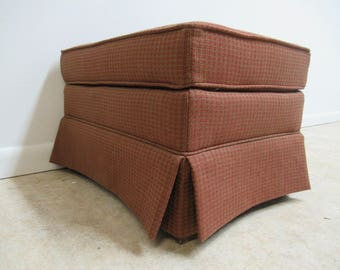 Vintage Ethan Allen Parsons Ottoman Foot Stool Vanity Bench B