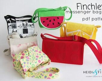 Finchley messenger bag child bag purse backpack carrier BONUS wallet sewing pattern pdf