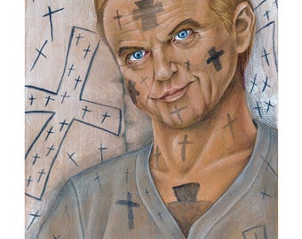 Sam Neill, In the Mouth of Madness,  Drawing, Movie Art, Poster