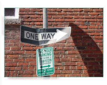 One Way in Washington, DC - One Way Sign