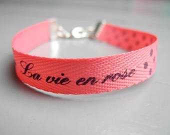 Pink Ribbon Bracelet message and key charm