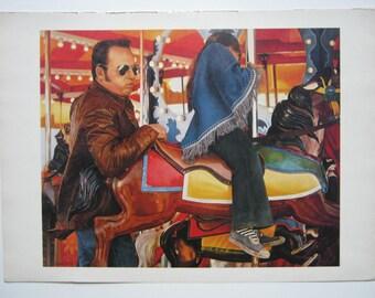 """Joseph Devellano, """"Free Ride""""  1977 - 1978 print"""